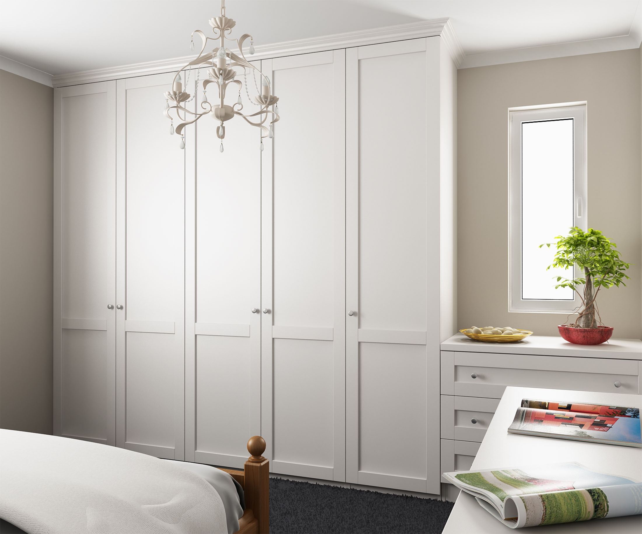 Tall Wardrobes Along Left Wall Dressing Tabledrawers With Mirror Within Tall Dressing Mirror (Image 15 of 15)
