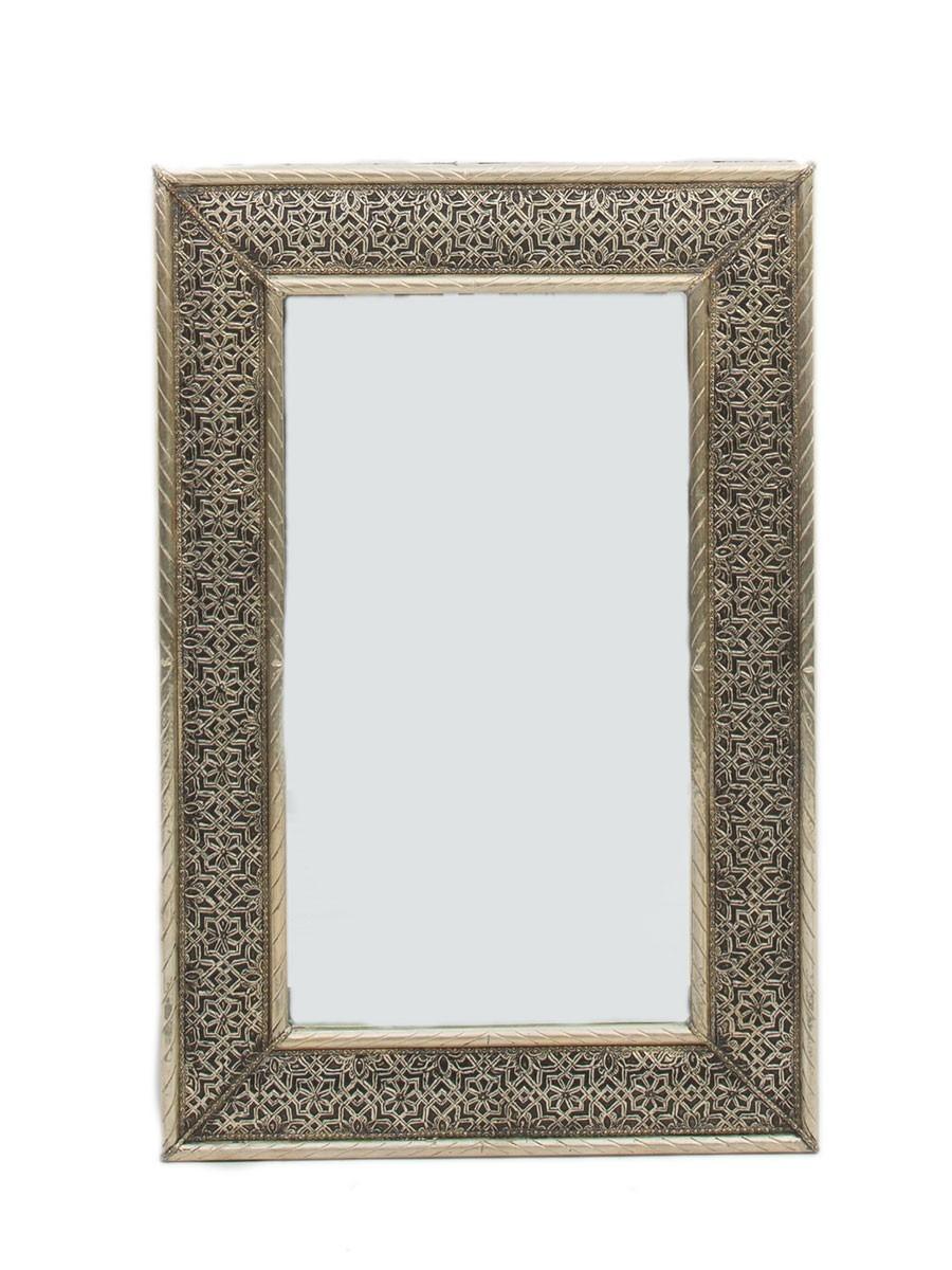 Tangier White Metal Mirror 75cm X 50cm Within White Metal Mirror (View 11 of 15)
