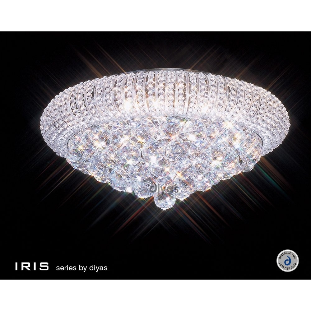 Tapesii Flush Chandelier Ceiling Lights Collection Of Inside Chandelier For Low Ceiling (Image 15 of 15)