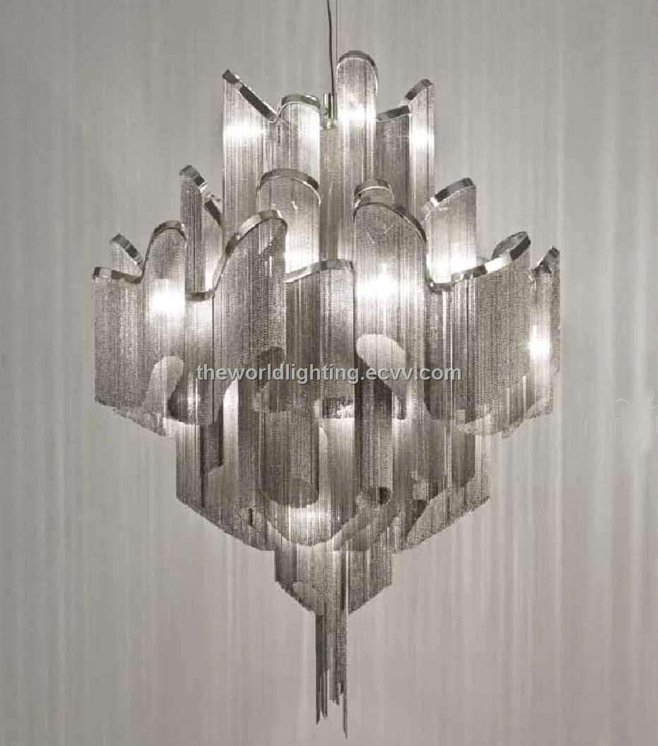 Td 120519 12chchrome Metal Stand Glass Cup Shape Modern Iron Regarding Chinese Chandelier (Image 14 of 15)