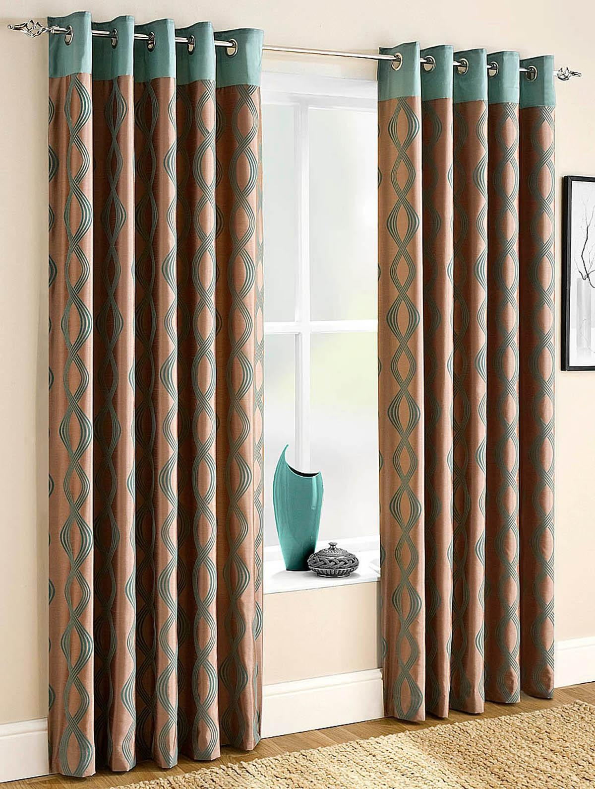 Teal Curtains Winda 7 Furniture Within Ready Made Draperies (Image 13 of 15)