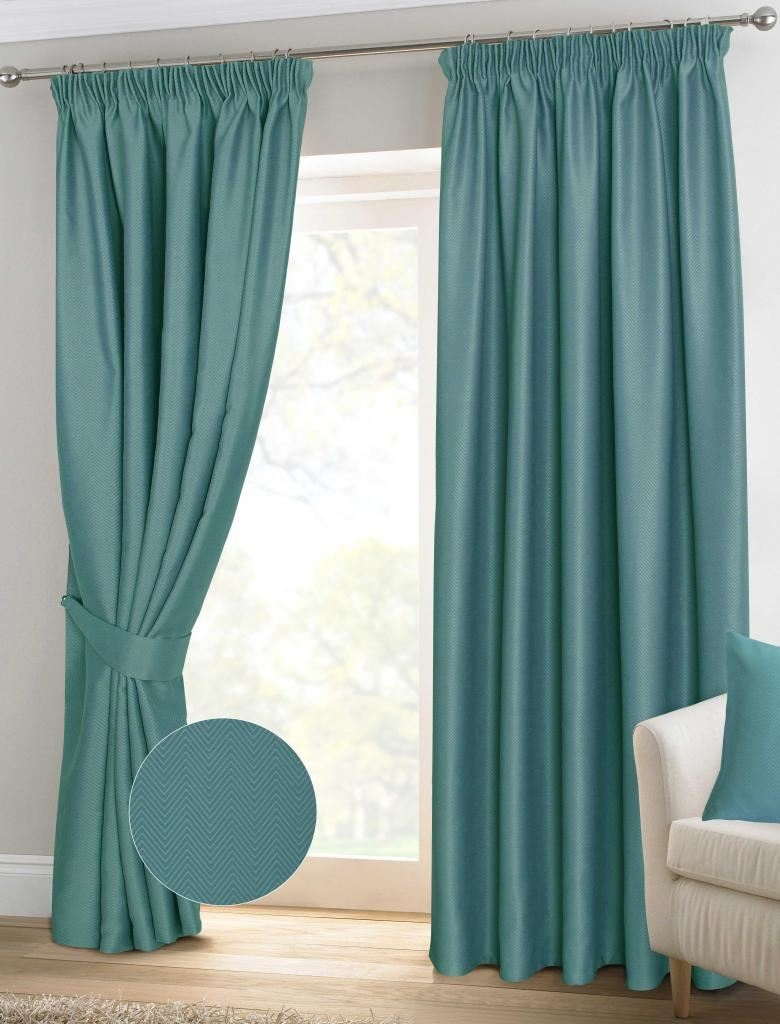 Teal Ready Made Curtains Pencil Pleat Best Curtains 2017 Within Pencil Pleat Blackout Curtains (Image 9 of 15)