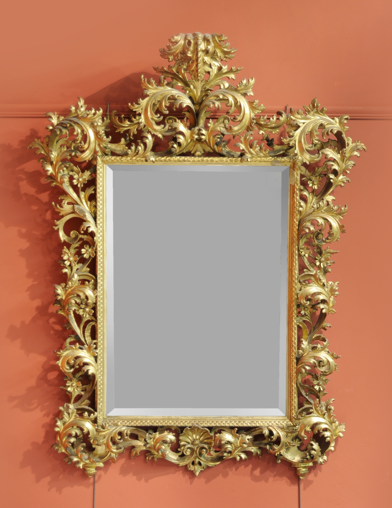 Tennants Auctioneers A Rococo Style Giltwood And Gesso Wall Mirror For Rococo Style Mirrors (Image 14 of 15)