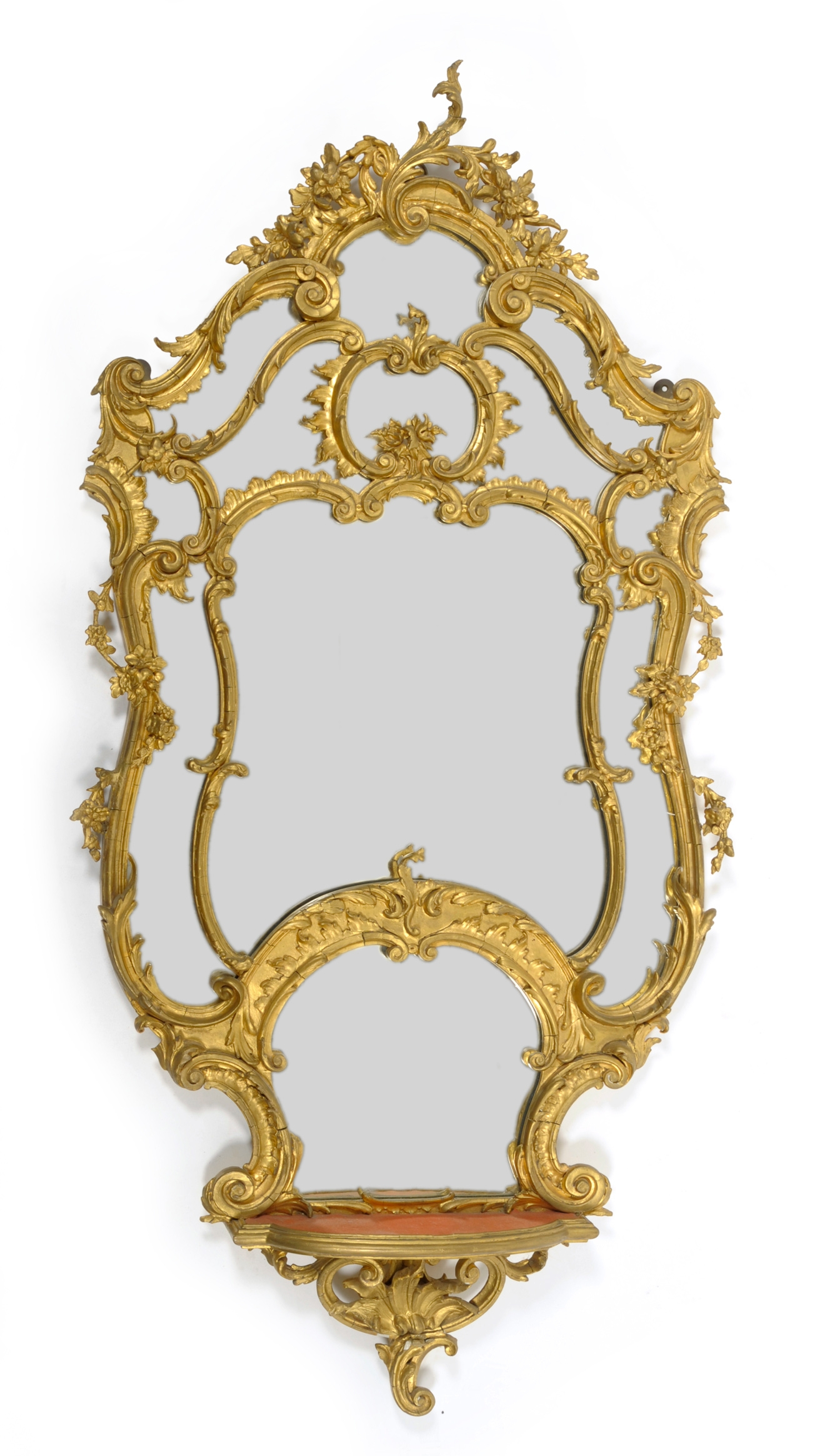 Tennants Auctioneers An 18th Century Style Rococo Gilt Gesso Wall Intended For Rococo Wall Mirror (Image 13 of 15)