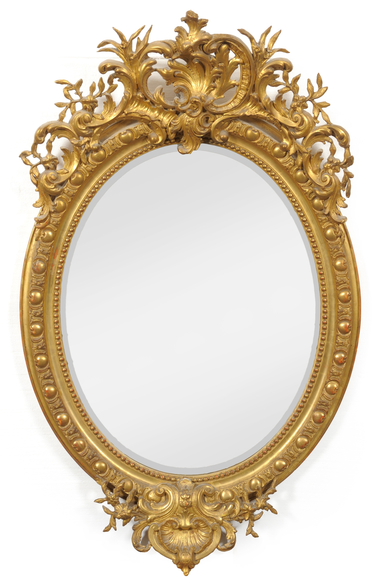 Tennants Auctioneers An Early Victorian Gilt And Gesso Oval Wall Intended For Victorian Mirrors Antique (Image 14 of 15)