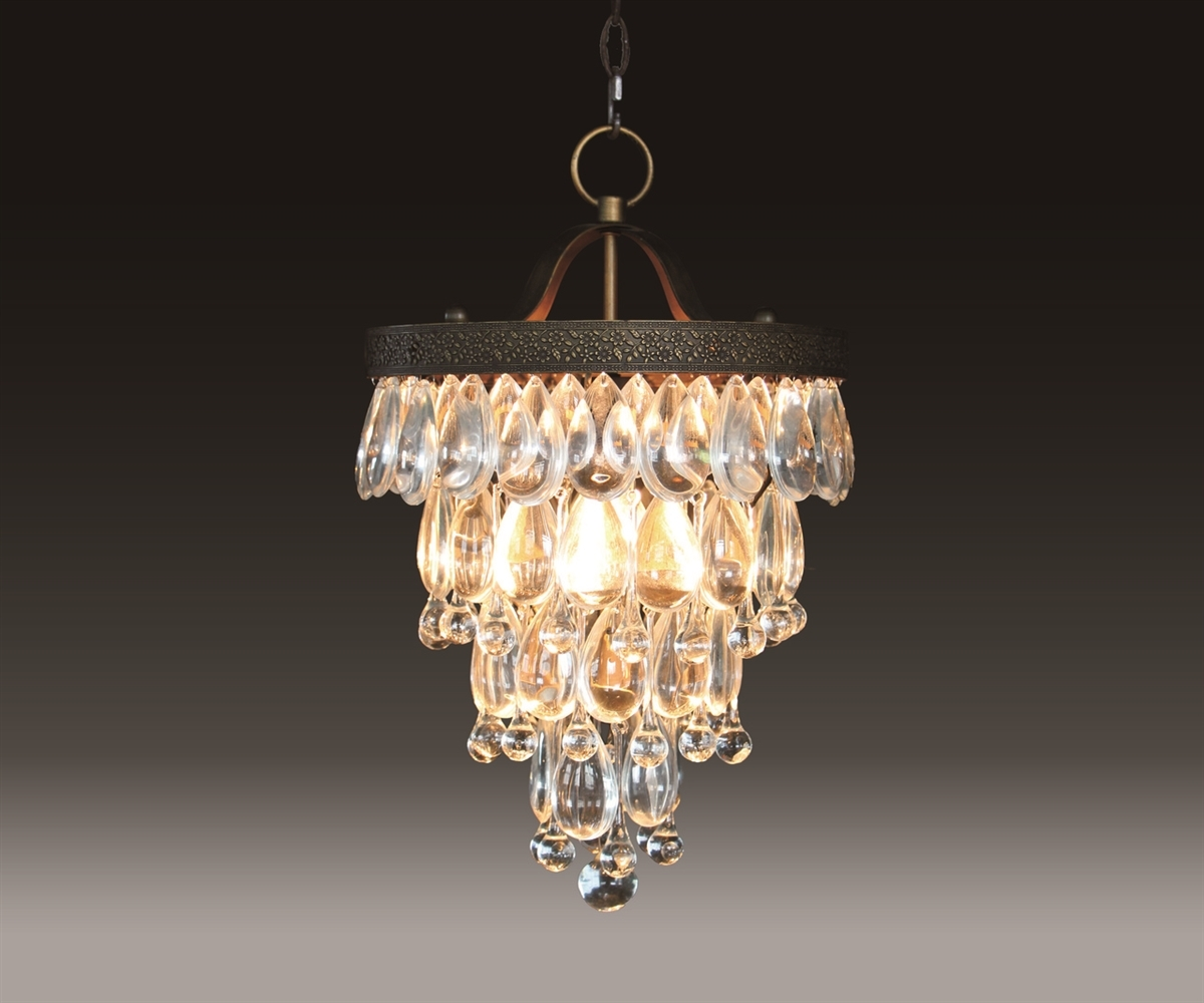 Terracotta Bardolino Round Glass Drop Chandelier Chan8042 2s Regarding Glass Droplet Chandelier (Image 15 of 15)