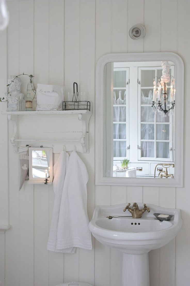The 139 Best Images About Bathtime Bliss On Pinterest With Regard To Shabby Chic Bathroom Mirrors (Image 15 of 15)