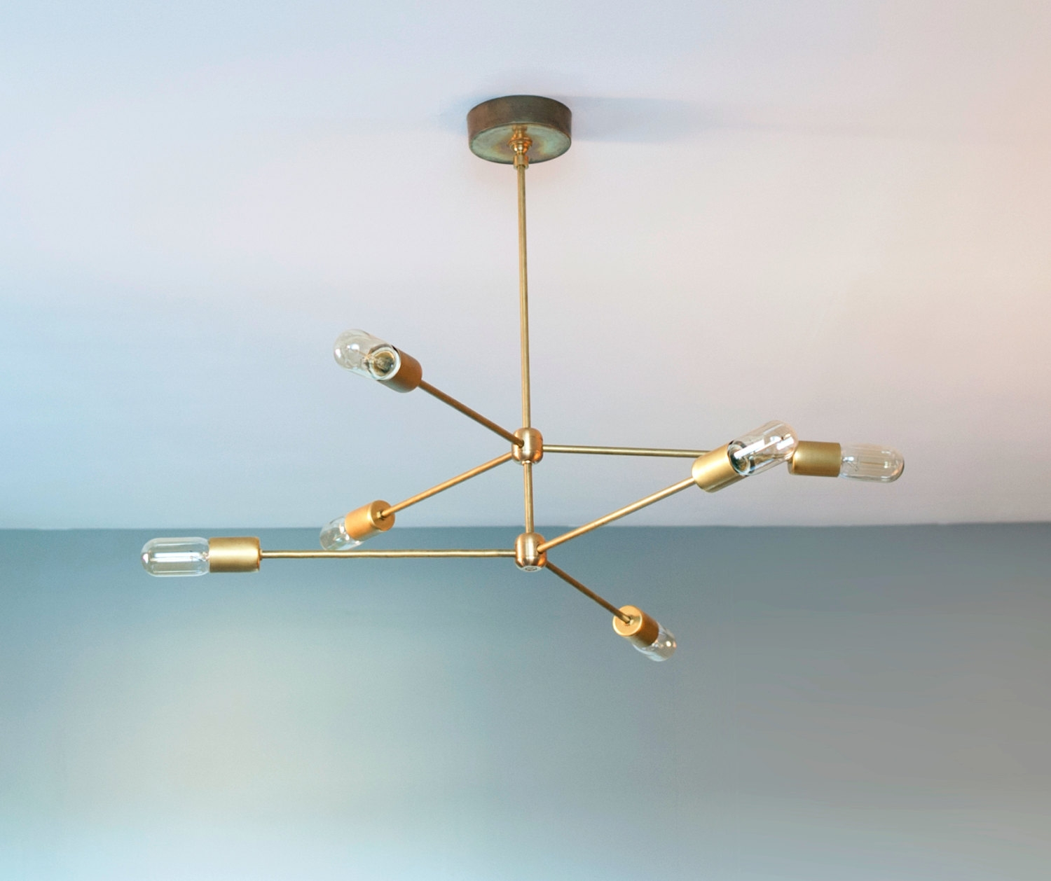 The Annunciation Chandelier 2 Tiered 3 Armed Sputnik Chandelier Throughout Gold Modern Chandelier (Image 15 of 15)