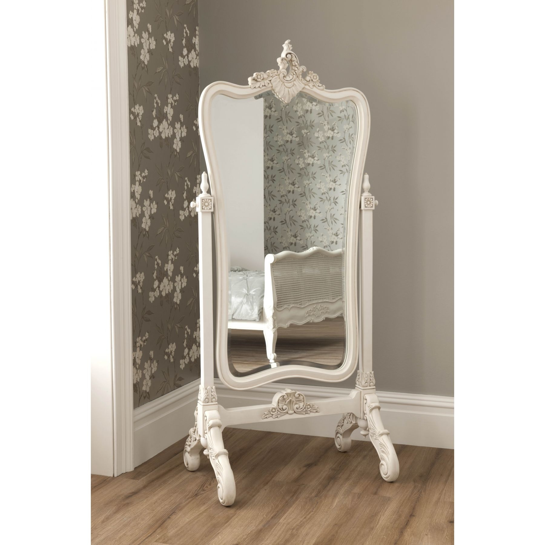 The Antique Victorian Cheval Glass English Dressing Tall Floor For Vintage Standing Mirror (View 2 of 15)