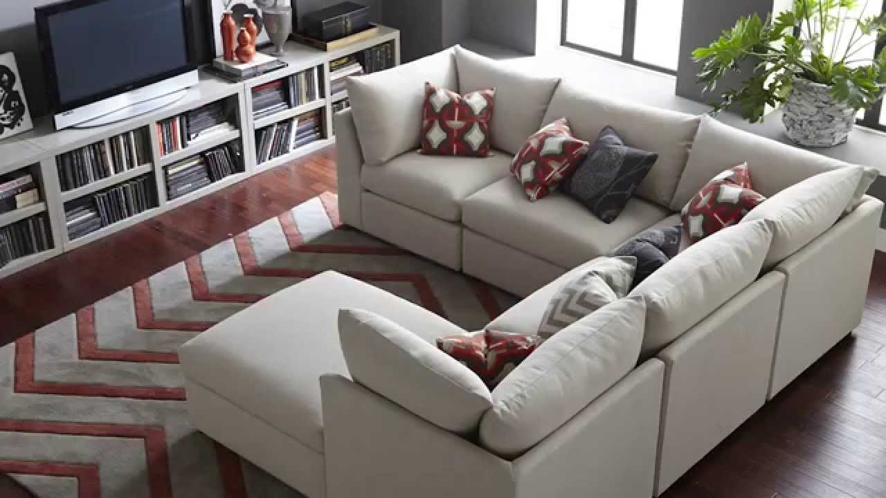 The Beckham Sectional Sofa Bassett Furniture Youtube Throughout Bassett Sofa Bed (Image 12 of 15)
