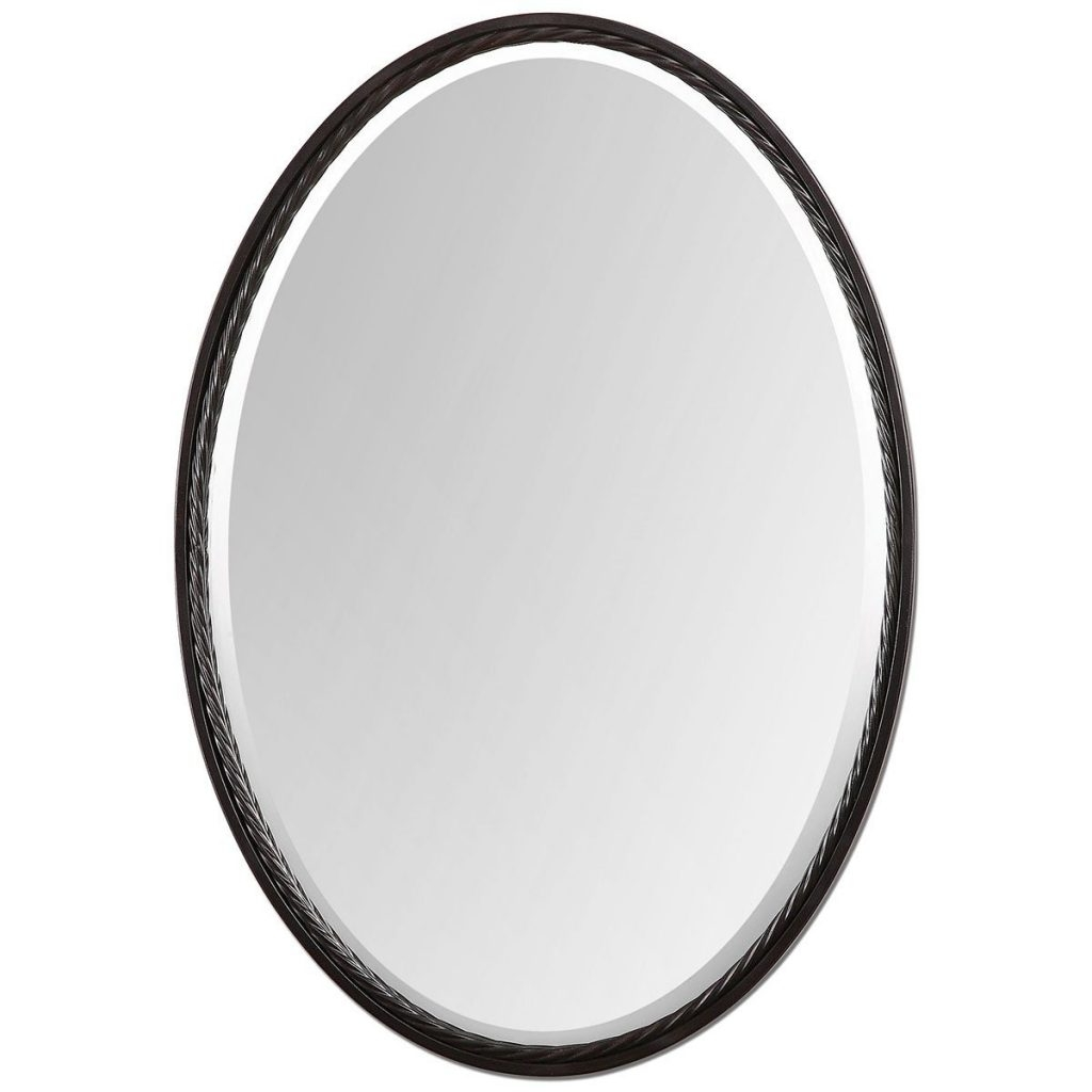 The Best Oval Mirrors For Your Bathroom Decor Snob In Oval Black Mirror (Image 14 of 15)