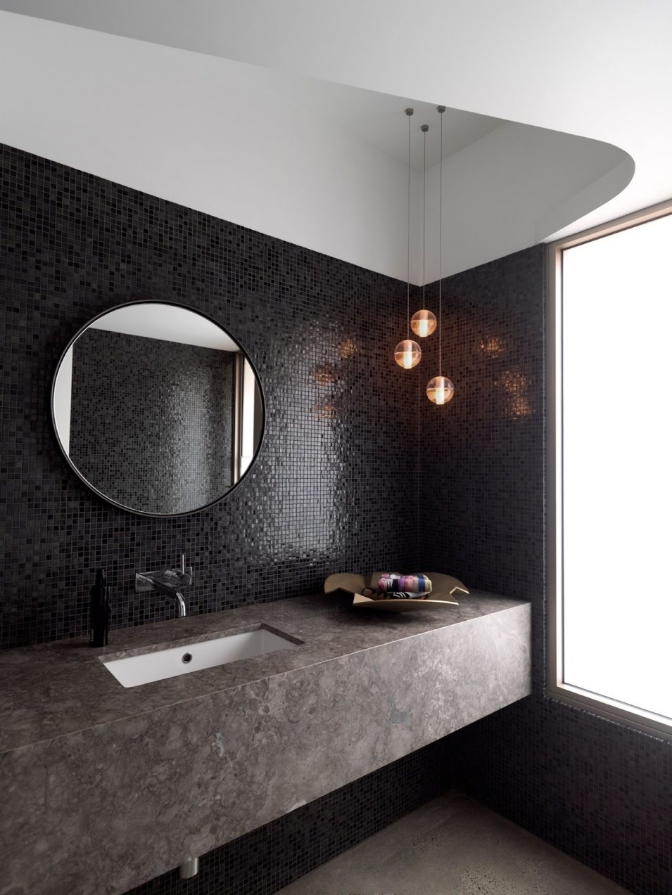 The Best Recommendation Of Round Bathroom Mirrors Nytexas In Large Black Round Mirror (Image 15 of 15)