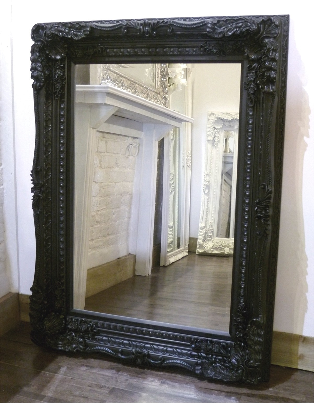 The Best Value Black Chelsea Ornate Mirrors Online Intended For Black Ornate Mirrors (Image 11 of 15)