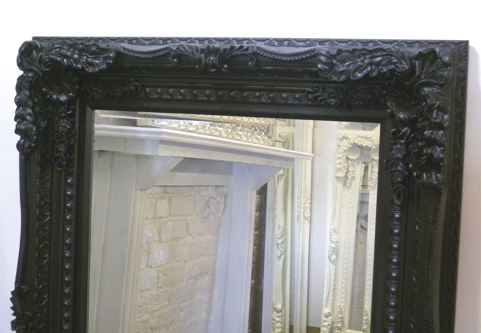 The Best Value Black Chelsea Ornate Mirrors Online With Black Ornate Mirrors (Image 12 of 15)