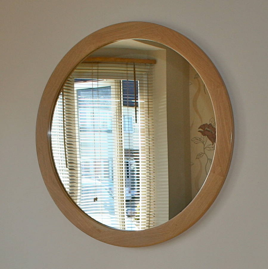 The Big Round Oak Mirror Wood Paper Scissors Pertaining To Huge Round Mirror (Image 15 of 15)