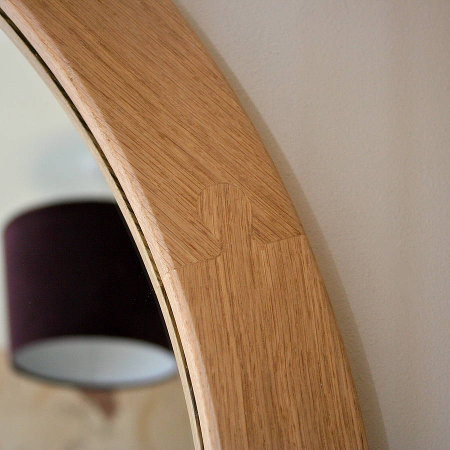 The Big Round Oak Mirror Wood Paper Scissors With Oak Mirrors (Image 13 of 15)