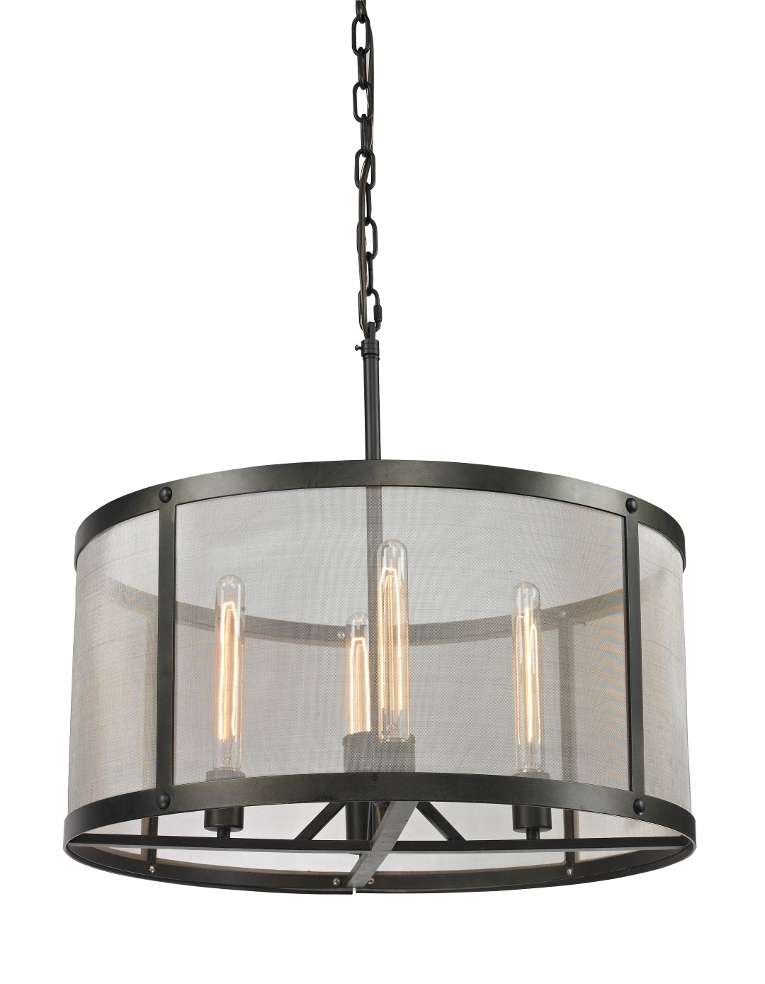 The Charleston Mesh Chandelier Provides A Warm And Inviting Intended For Lucinda Branch Chandelier (Image 12 of 15)