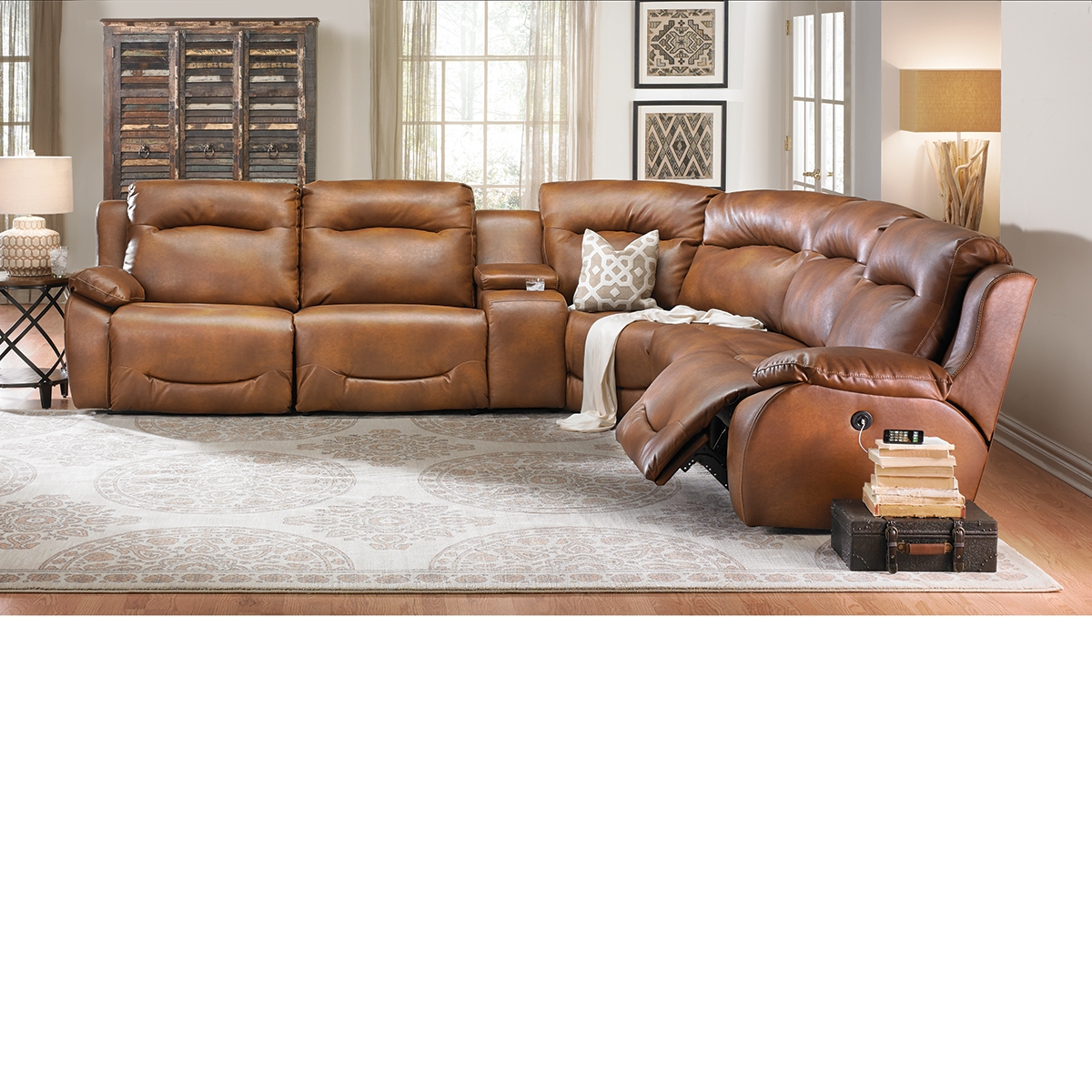 The Dump Furniture Outlet Closeout 6 Piece Power Plus Sectional Regarding Closeout Sectional Sofas (Image 15 of 15)