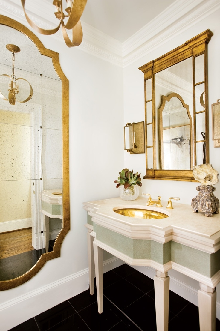 The Enchanted Home Gold Bathroom Mirror Sink French Style Decor With Regard To French Style Bathroom Mirror (View 2 of 15)