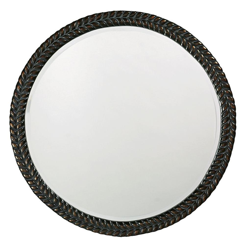 The Howard Elliott Collection 32 In X 32 In Round Framed Mirror Regarding Black Circle Mirrors (Image 15 of 15)