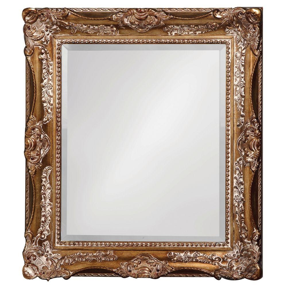The Howard Elliott Collection 34 In X 28 In Antique Silver And With Regard To Silver Ornate Framed Mirror (Image 11 of 15)