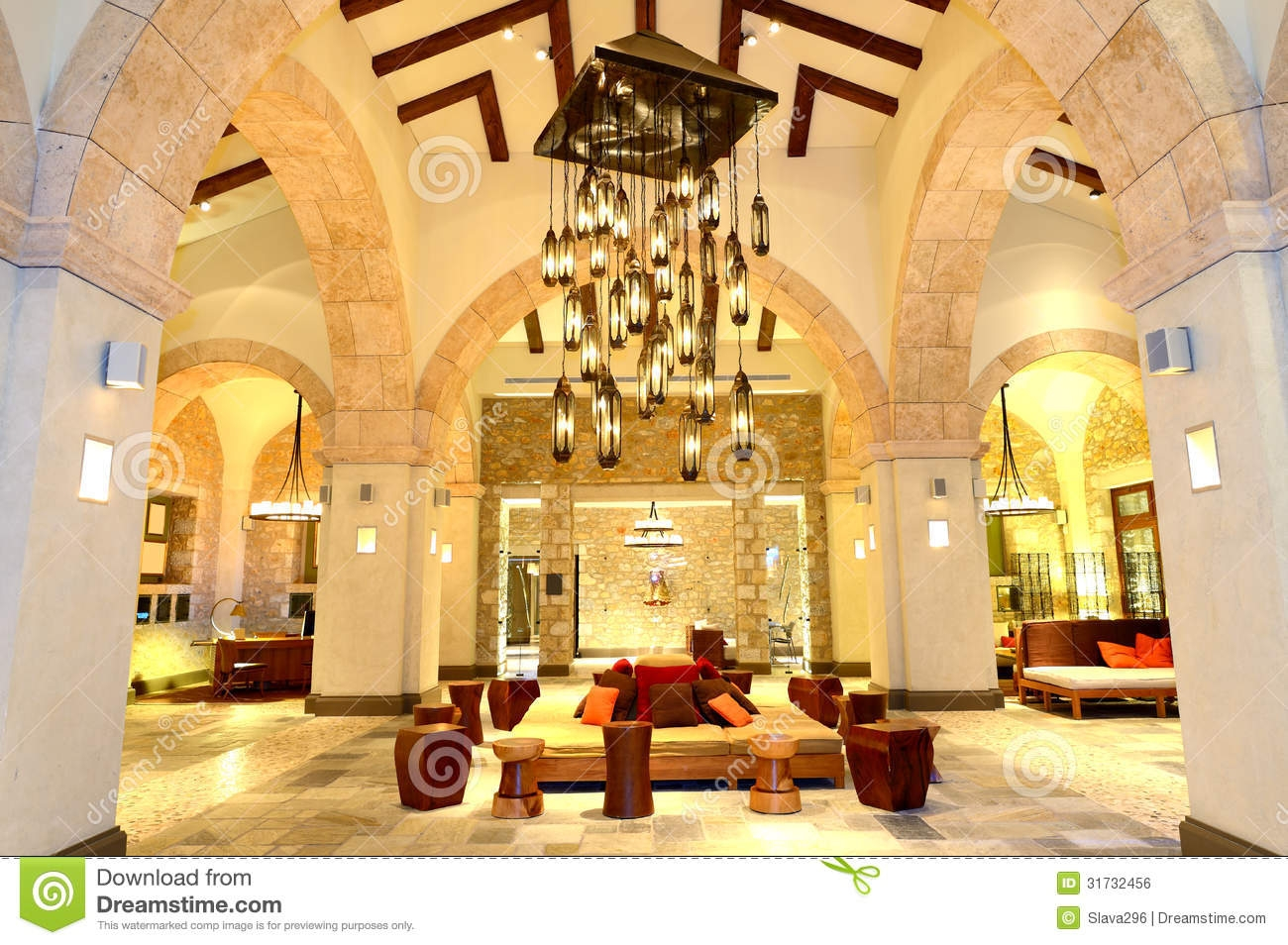 The Large Chandelier At Lob In Luxury Hotel Royalty Free Stock For Hotel Chandelier (Photo 8 of 15)