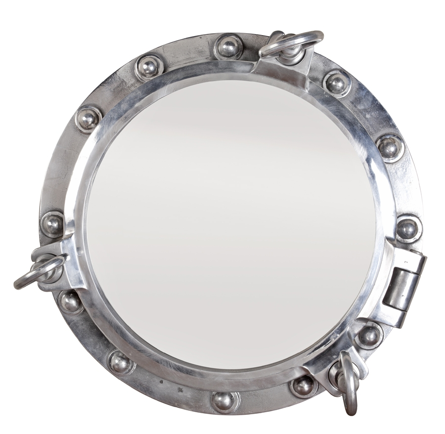 The Lockhart Collection Decorative Accessories Intended For Chrome Porthole Mirror (Image 15 of 15)