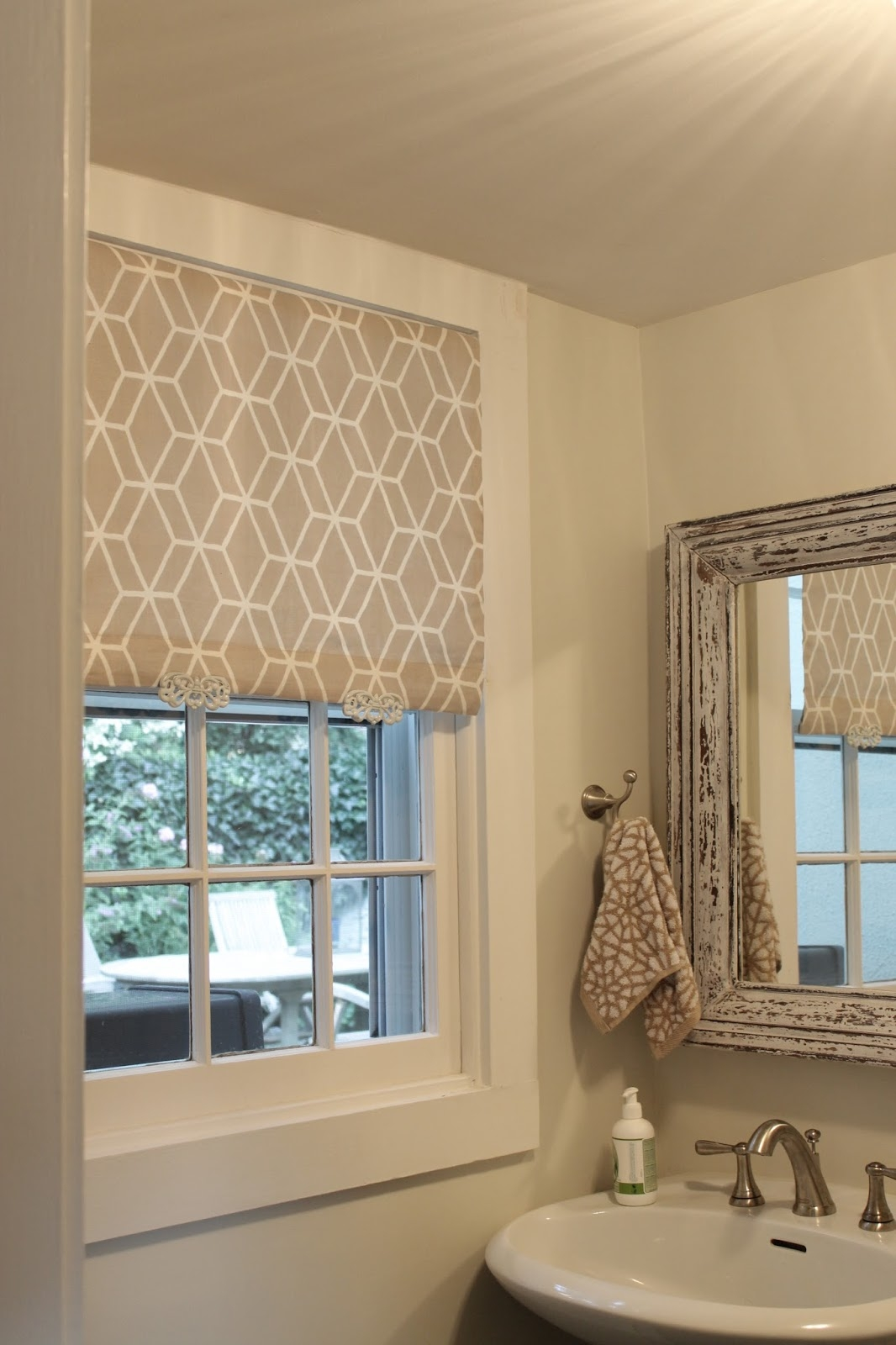 The Picket Fence Projects So Shady White Roller Blind Fabric Pertaining To Cloth Roller Blinds (Image 15 of 15)