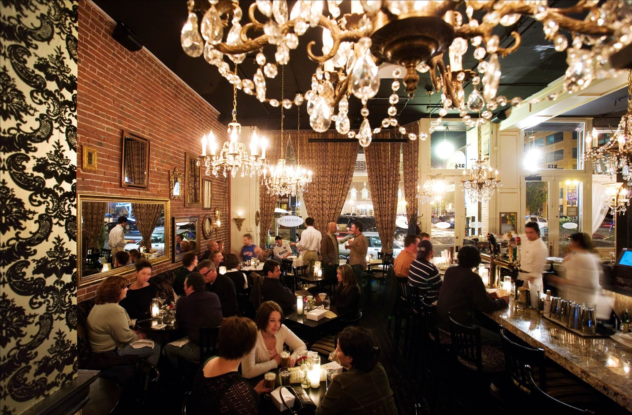 The Restaurant Mothers Bistro Within Restaurant Chandeliers (Image 15 of 15)