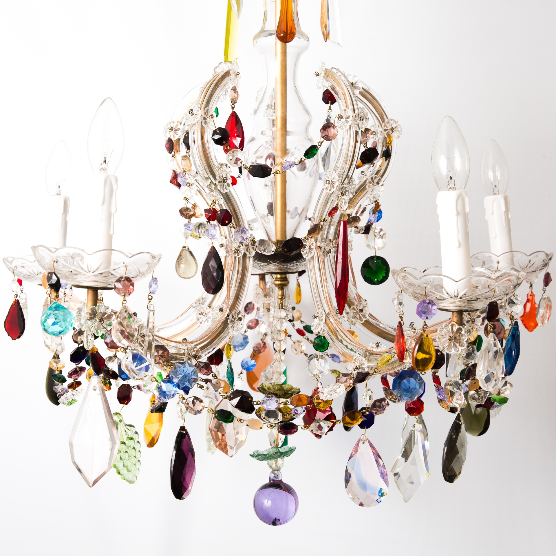 The Vintage Chandelier Companymulti Coloured Archives Page 2 Of With Coloured Chandeliers (View 3 of 15)