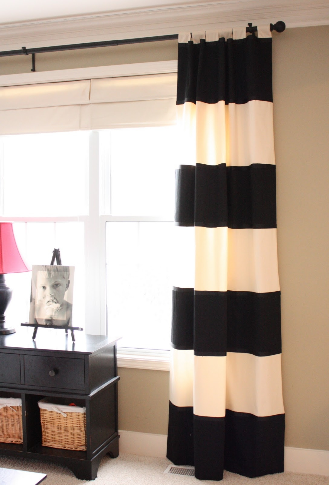 The Yellow Cape Cod Diy Striped Drapes Intended For Thick Striped Curtains (View 4 of 15)
