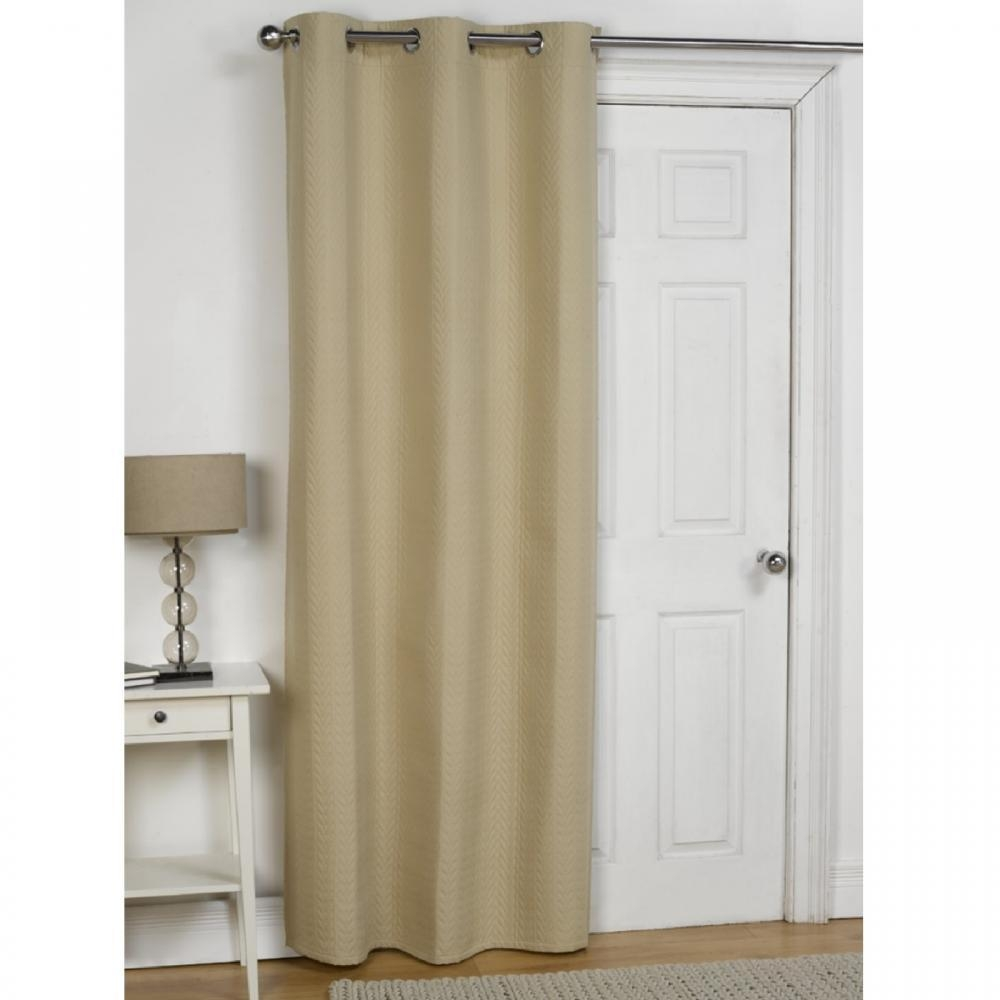 Thermal Door Curtain Eyelet Pertaining To Thermal Door Curtains (Image 15 of 15)