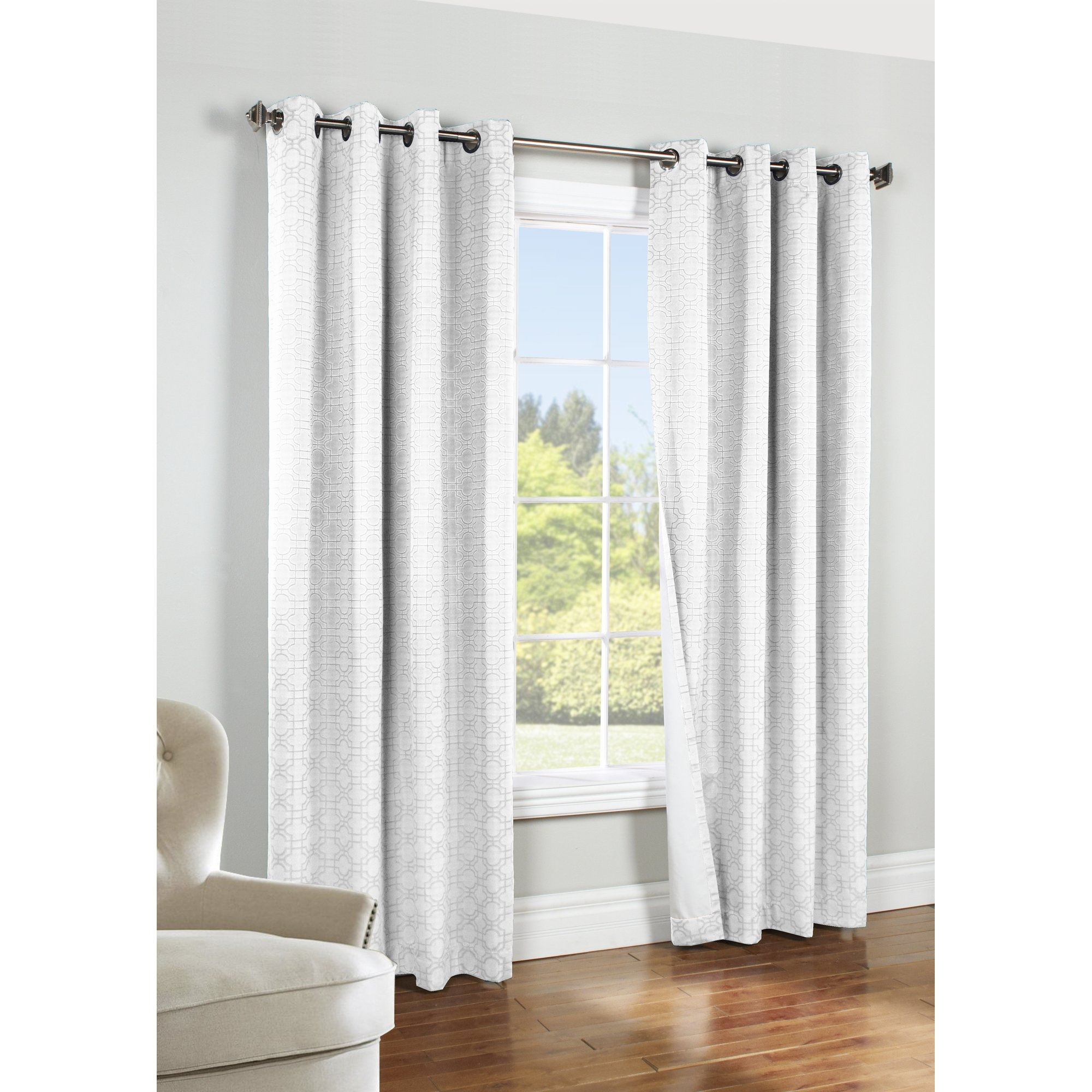 Thermalogic Iron Gate Geometric Blackout Thermal Single Curtain Regarding White Thermal Curtains (Image 12 of 15)