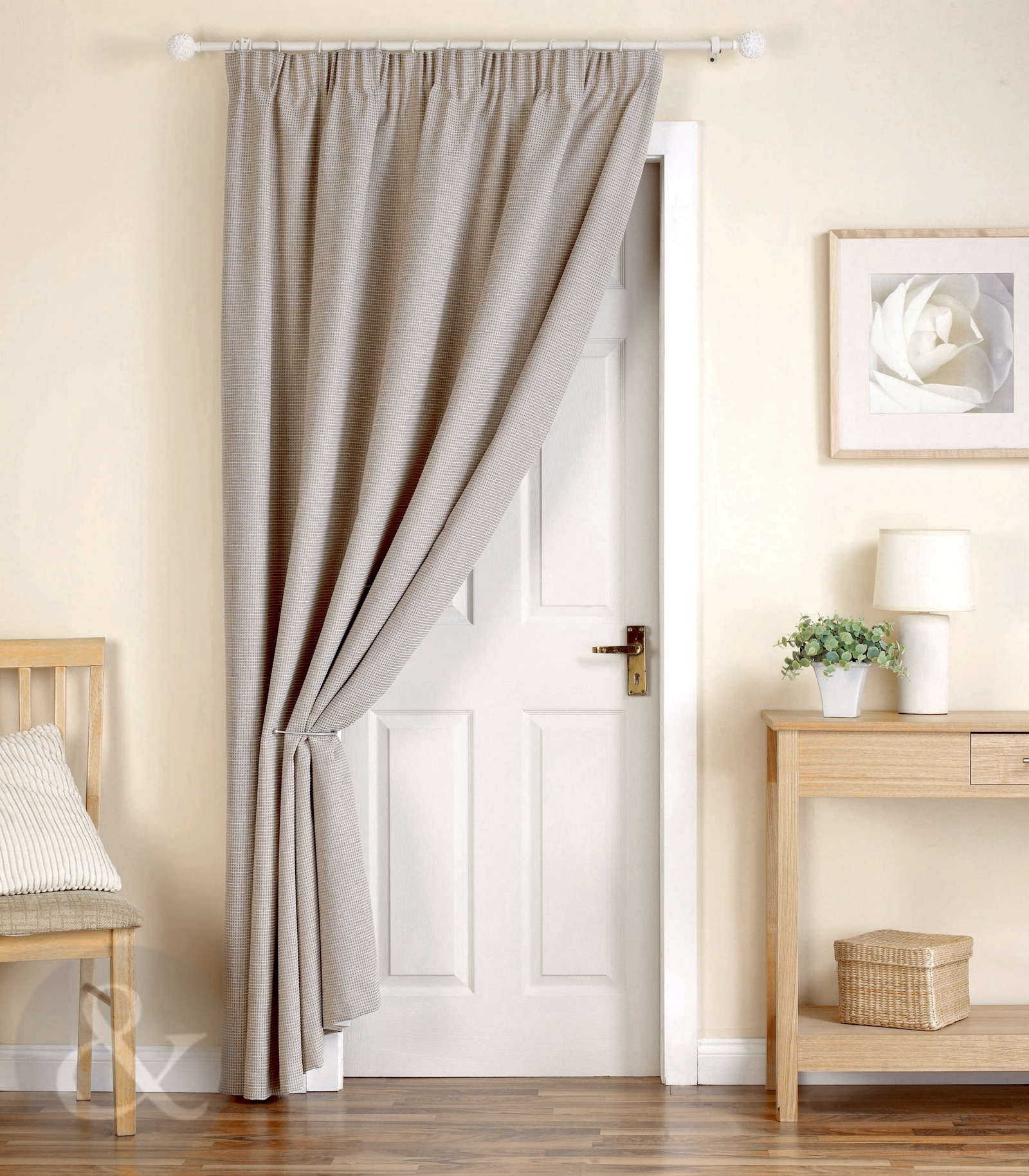 Thick Heavy Door Curtains Ready Made Thermal Lined 66 X 84 Door Within Heavy Lined Curtains (Image 14 of 15)