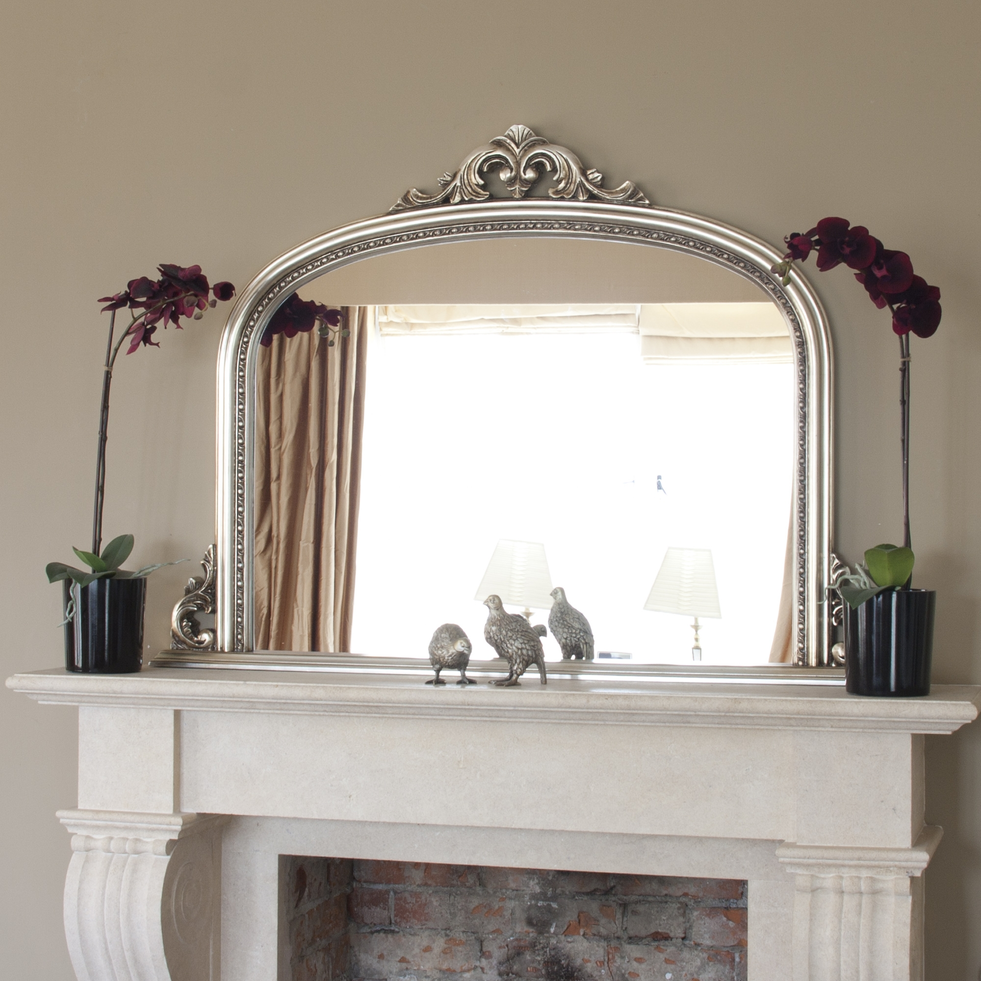 This Is A Slightly Different Design From The More Plain Overmantel Within Overmantel Mirror (Image 12 of 15)