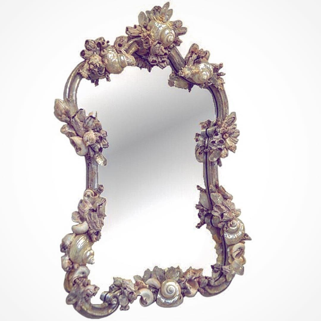 Throwback Thursday One Of My Shell Embellished Mirrorsloved Inside Embellished Mirrors (View 15 of 15)