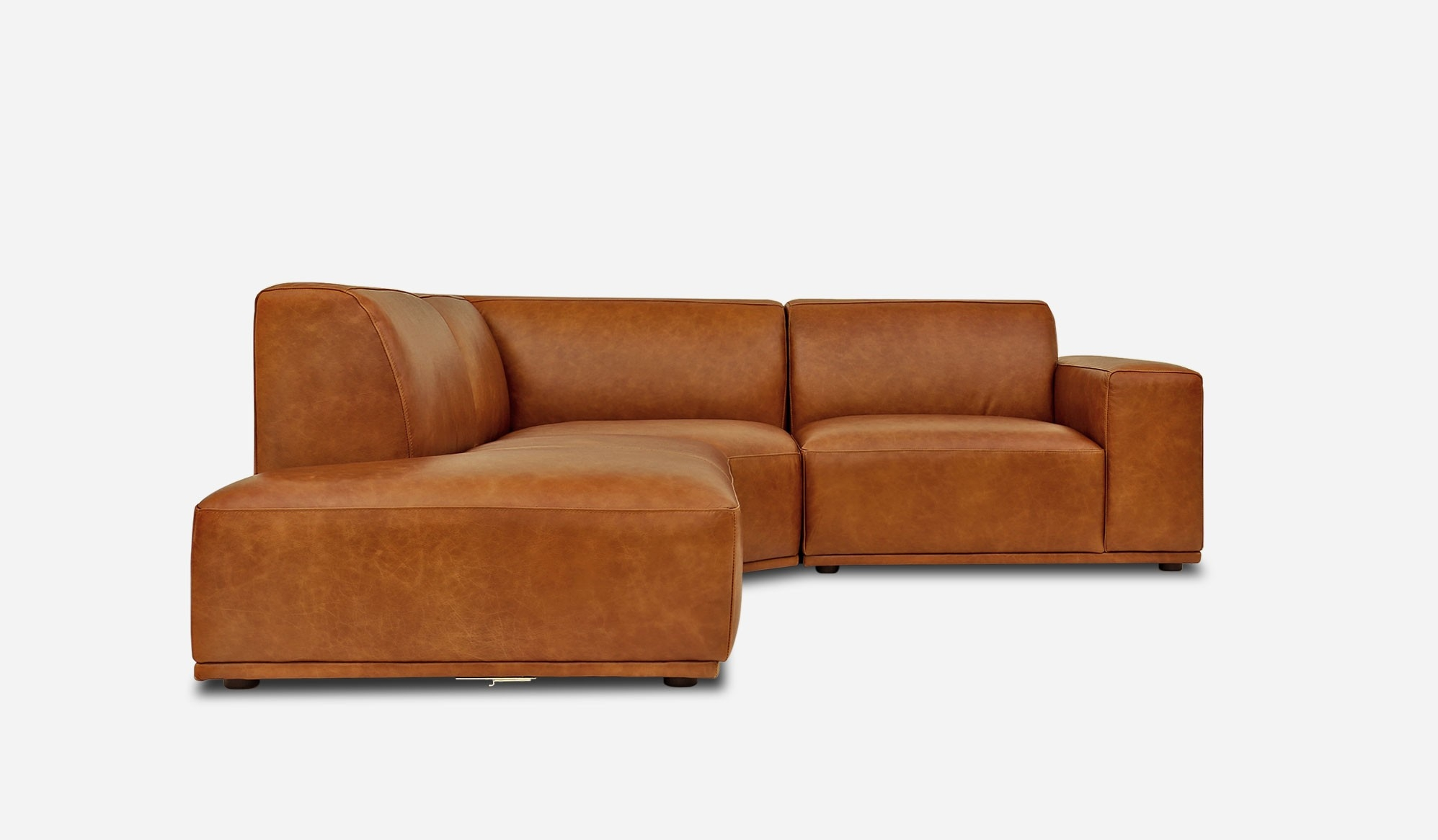 Todd Sectional Chaise Sofa Left Hand Facing Leather Camel Inside Camel Sectional Sofa (View 13 of 15)