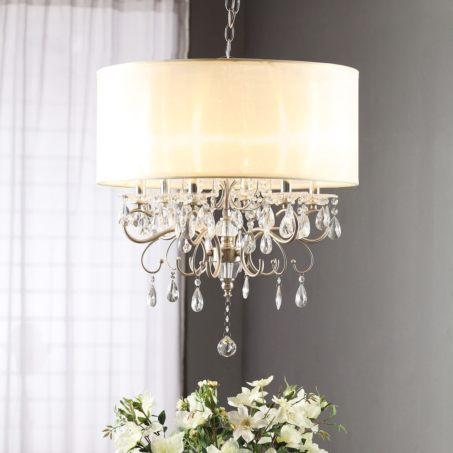 Top 10 Chandeliers Ebay With Regard To Cream Chandelier Lights (Image 14 of 15)
