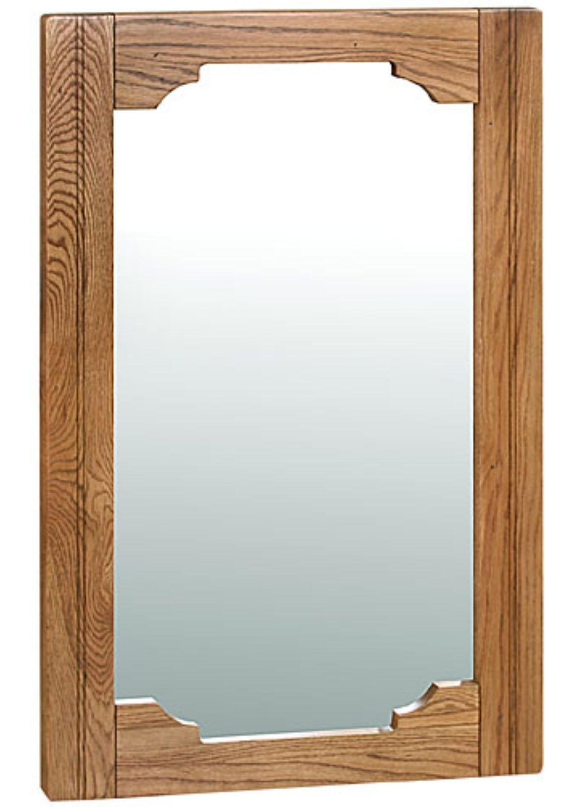 Toulouse Antique Oak Large Wall Mirror Oak Furniture Solutions Inside Oak Wall Mirrors (Image 11 of 15)