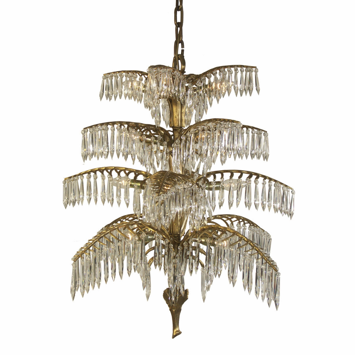 Traditional Chandelier Crystal Brass Handmade Palme 20332 Intended For Traditional Chandelier (Image 9 of 15)