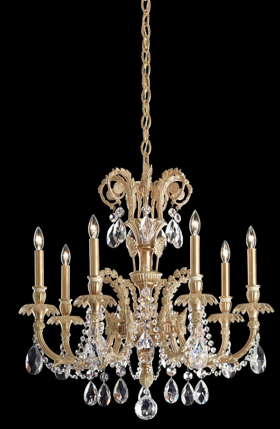 Traditional Chandelier Crystal Cast Iron Led Genzano Inside Traditional Chandelier (Image 10 of 15)