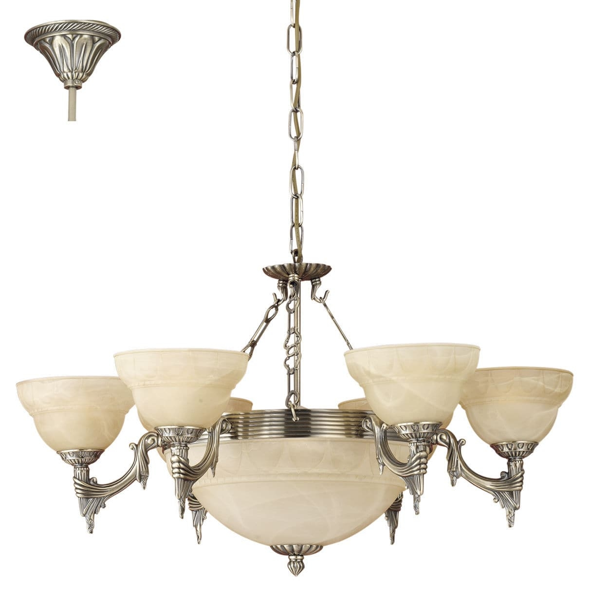 Traditional Chandelier Glass Metal Incandescent Marbella With Traditional Chandelier (Image 11 of 15)