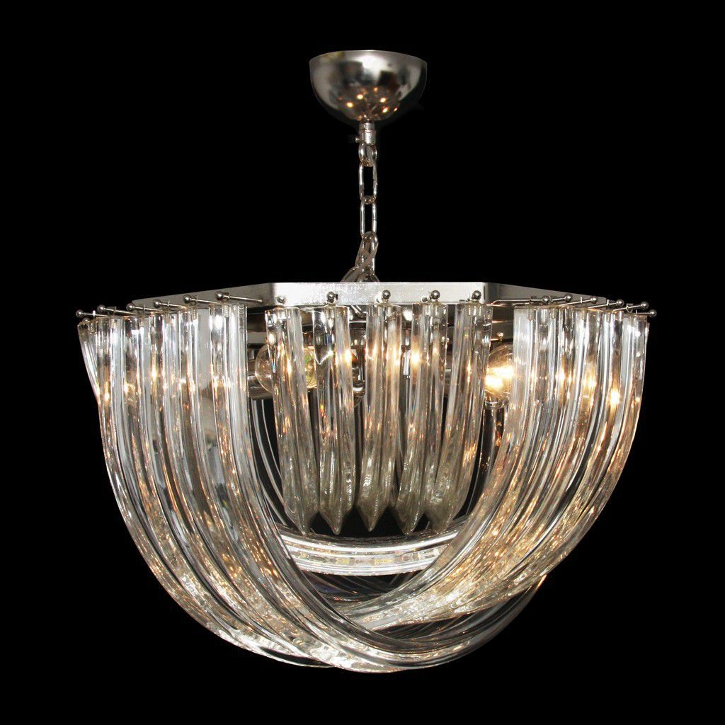 Traditional Chandelier Murano Glass Incandescent Handmade Inside Vintage Style Chandeliers (View 8 of 15)