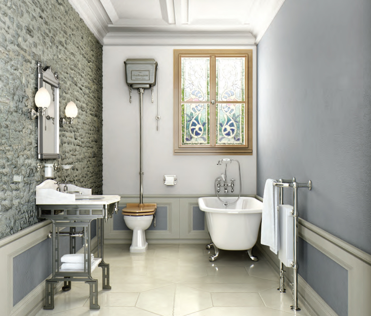 Traditional Victorian Style Tiles In A Wetroom Description From Within Victorian Style Mirrors For Bathrooms (View 6 of 15)