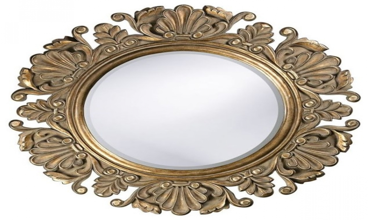 Traditional Wall Mirrors Art Deco Round Mirror Ornate Wall Mirror Intended For Ornate Round Mirror (Image 12 of 15)