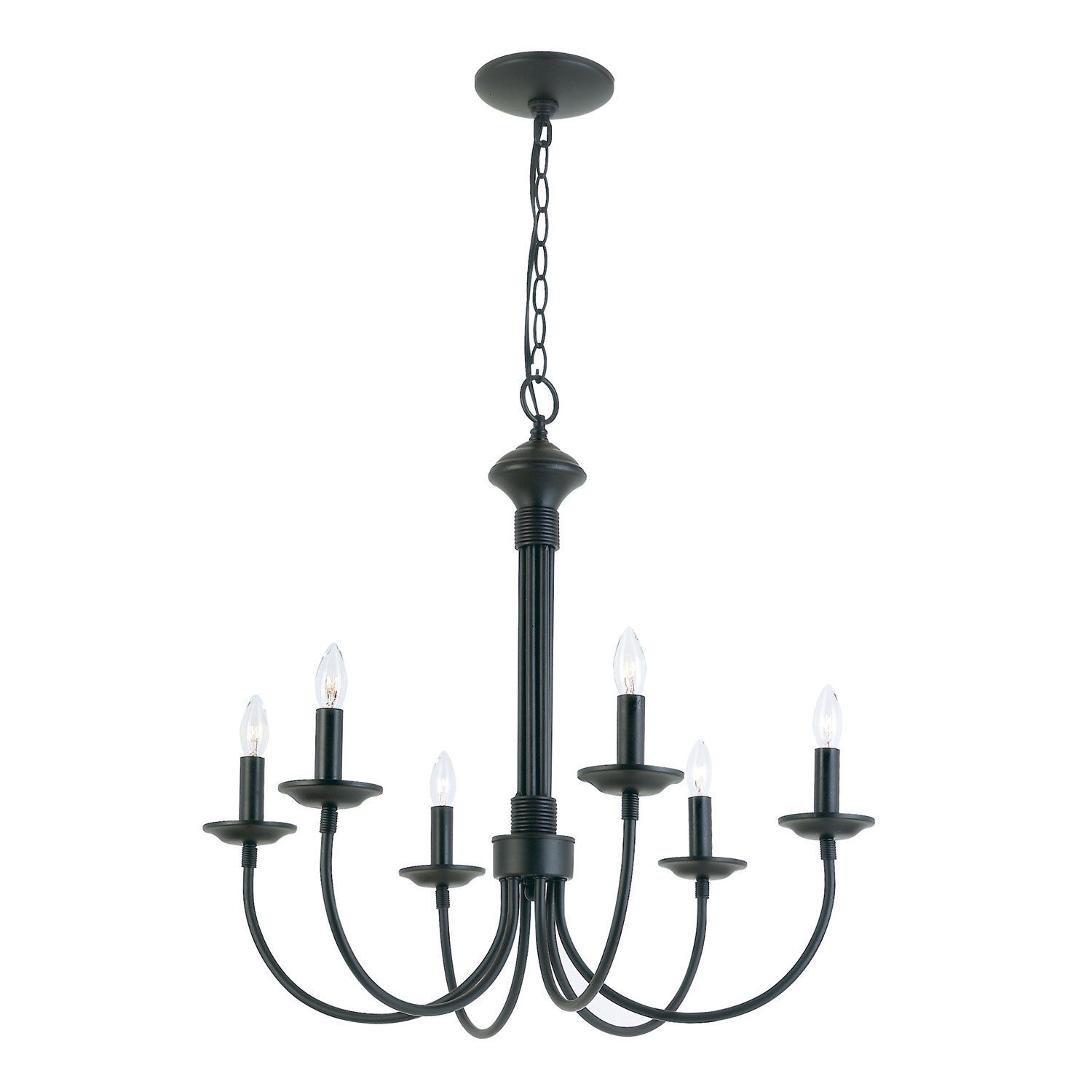Trans Globe Lighting New Century Six Light Black Chandelier On Sale With Black Chandelier (Image 13 of 15)