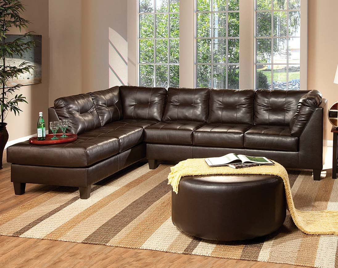Transitional Sofa Dark Brown Fabric Venus Chocolate Sectional In Chocolate Brown Sectional Sofa (Image 14 of 15)