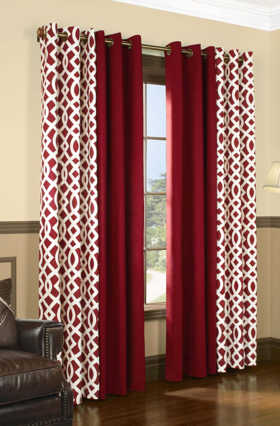 Trellis Insulated Grommet Top Curtains Thermal Drapes Trellis In White Thermal Curtains (View 8 of 15)