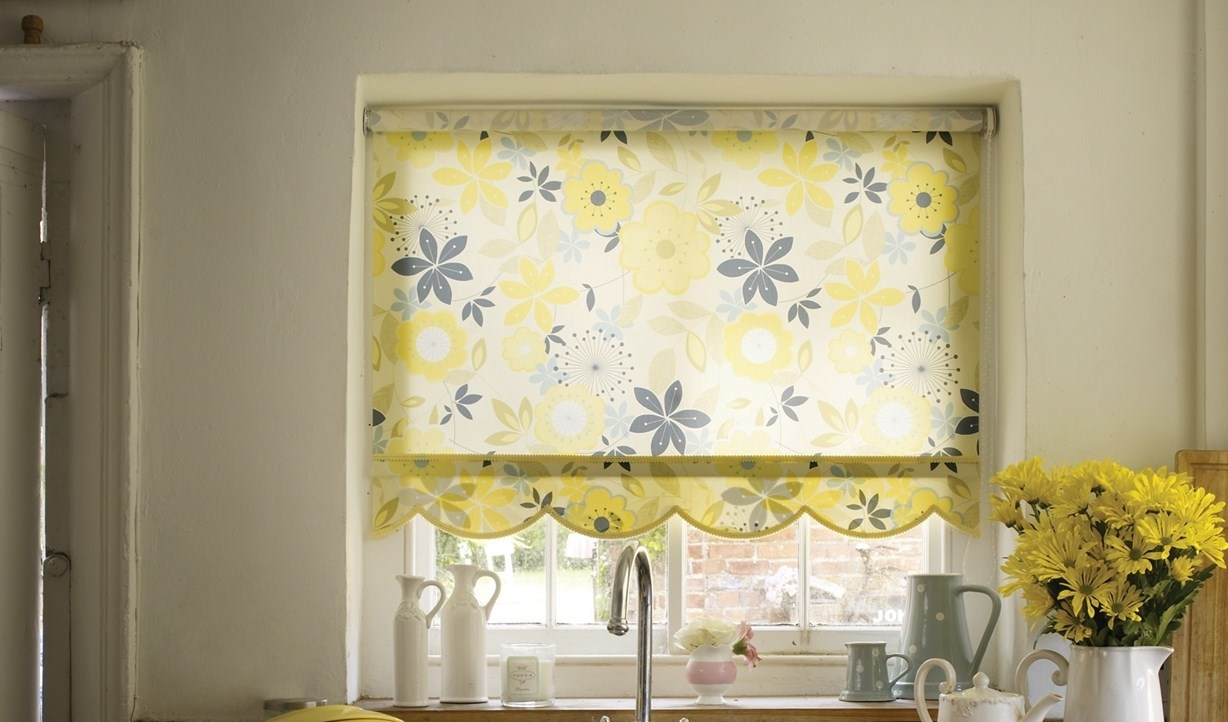 Trend 31 Green Kitchen Blind On Green Roman Blinds Really Add A For Yellow  Roman Blinds