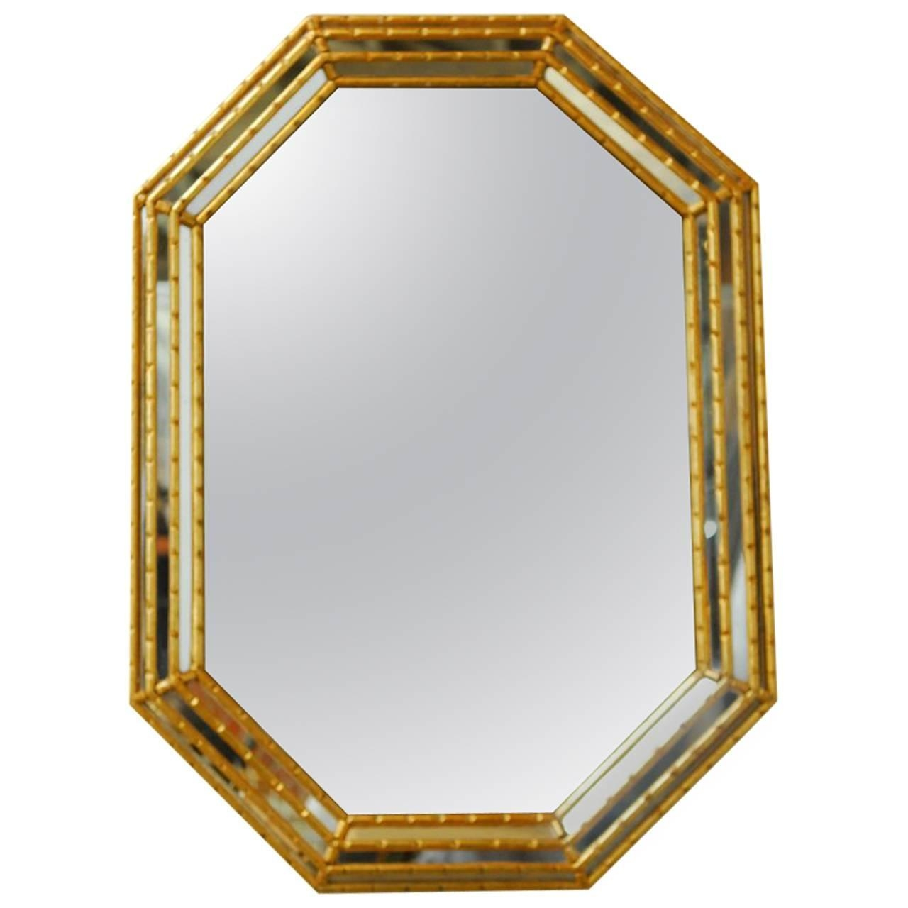 Trio Of Gothic Arched Solid Brass Mirrors For Sale At 1stdibs With Regard To Brass Mirrors For Sale (Image 13 of 15)